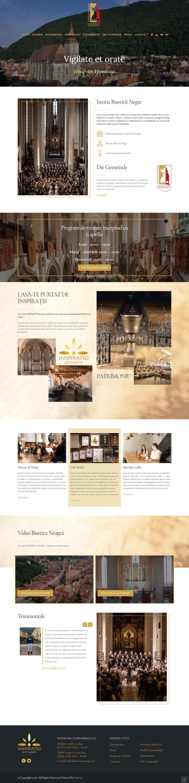 Website Biserica Neagră