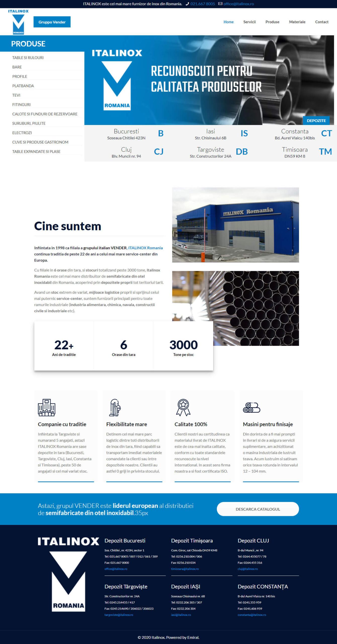 Website Italinox